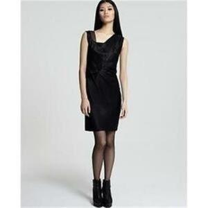 Helmut Lang black silk cocktail dress